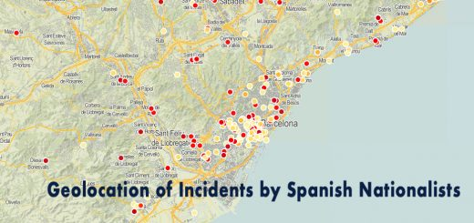 Geolocation of Incidents by Spanish Nationalists in Catalans Countries
